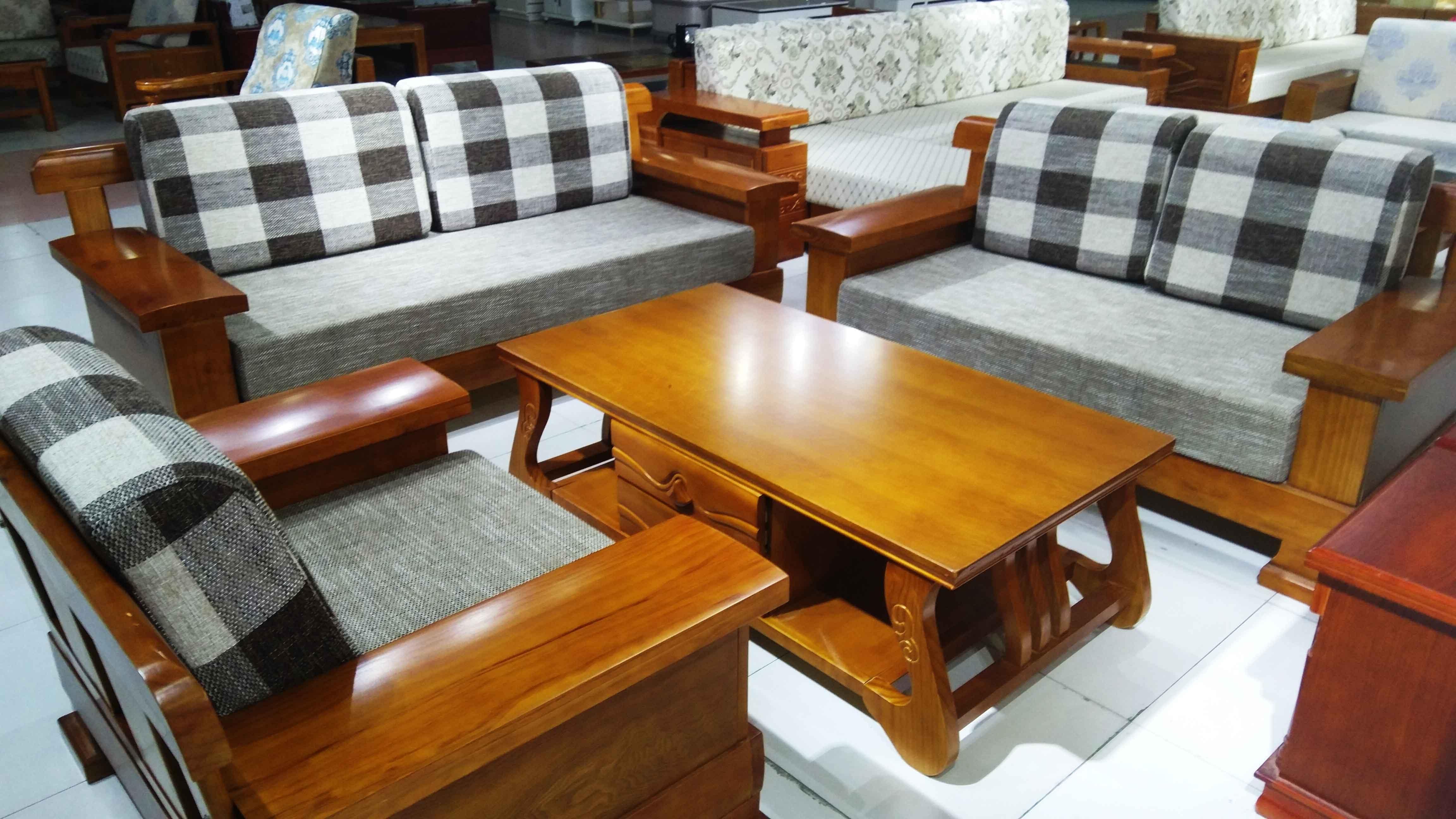 实木橡木松木沙发