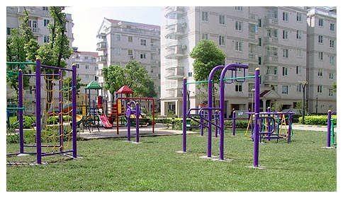 公园健身器材_户外健身器材路径 运动器材 小区广场公园老年健身器材 双人漫步