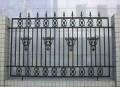 小区带尖锌钢围墙防护栏 学校操场隔离铁艺栏杆 围墙铁栅栏